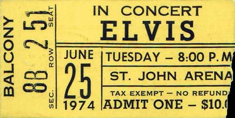 June 25, 1974 - St. John Arena Columbus, OH