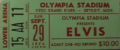 Sept. 29, 1974 - Olympia Stadium Detroit, Michigan