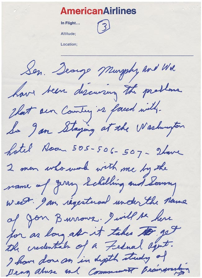 Elvis' Letter to Nixon page 3
