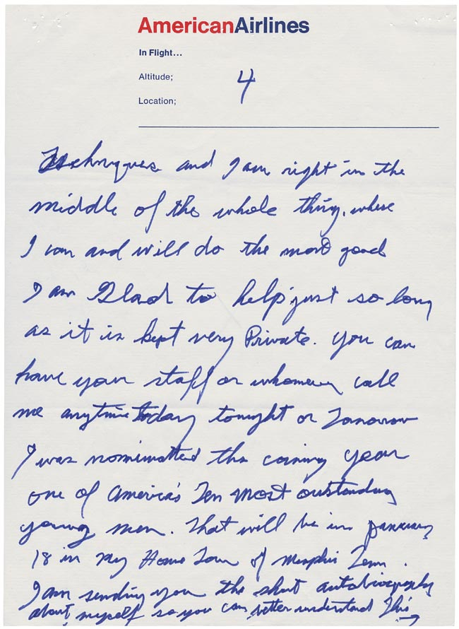 Elvis' Letter to Nixon page 4