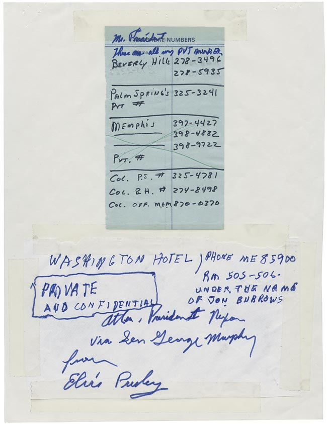 Elvis' Letter to Nixon page 6